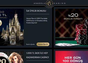 Anadolu Casino Bonus, Giriş Yap Bonus Kazan, Anadolubahis