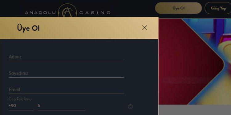 Anadolu Casino Üye Ol, Anadolucasino Kayıt, Kayıt Ol